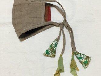 しましまリネンのマスク(インドのリボンテープ)の画像