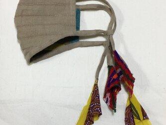 しましまリネンのマスク(ペルーのリボンテープ)の画像