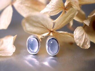 星空のピアス /  カルセドニー, Silver950の画像