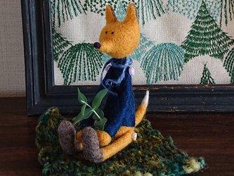 羊毛フェルトのキツネくん(シート付き)の画像