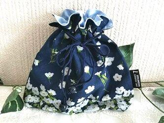 ネモフィラネイビーの巾着袋の画像