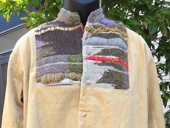 さをり織り+コールテンメンズシャツの画像