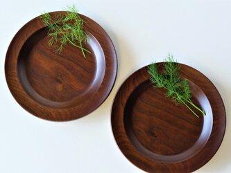 ウォールナットのカレー皿(2枚セット)Bの画像