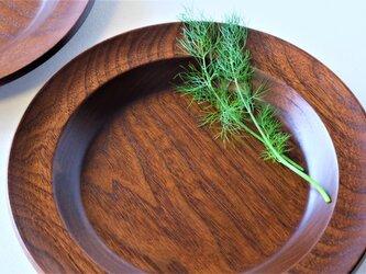 ウォールナットのカレー皿(2枚セット)Cの画像