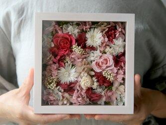 送料無料 アクリル板付きフレーム アレンジ Pink raspberryの画像