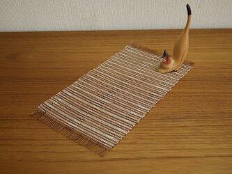 草木染め 手織りテーブルセンター TC02の画像