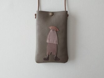 annco leather pochette (charcoal grey)の画像