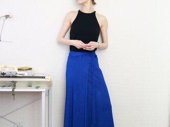 ◆即納◆Diphda[ディフダ] マキシ丈ラップ・スカート / ロイヤル・ブルーの画像