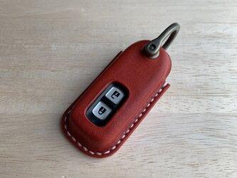 【新作】ホンダ 軽スマートキーカバー 2つボタンタイプ【名入れ無料・選べる革とステッチ】の画像