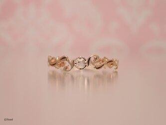 K10 ローズカットダイヤモンド リング (アラベスク リング)の画像