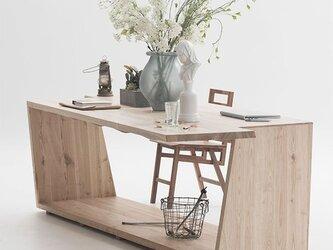 受注生産 職人手作り ダイニングテーブル テーブル 机 天然木 木目 家具 無垢材 ウォールナット エコ LR2018の画像