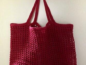 『pompom』Net-bag(magenta)の画像