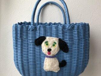 koruri × workshopcolore カゴバッグ 犬②の画像