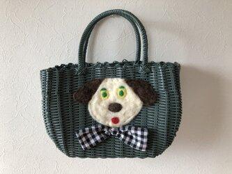koruri × workshopcolore カゴバッグ 犬①の画像