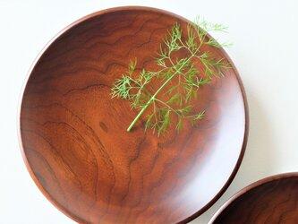 ウォールナットのパスタ皿(2枚セット)Aの画像