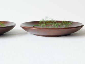ウォールナットのパスタ皿(2枚セット)Bの画像