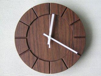 木の時計01(Φ240) No32 | ウォールナットの画像