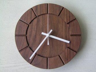 木の時計01(Φ240) No35 | ウォールナットの画像
