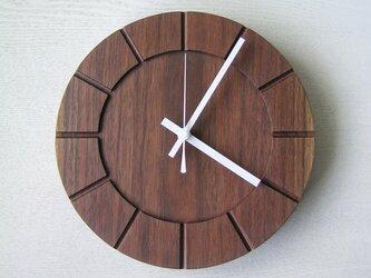 木の時計01(Φ240) No36 | ウォールナットの画像