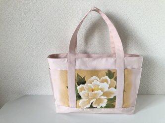 帯バッグ〜ポケットいっぱいトートバッグ〜の画像
