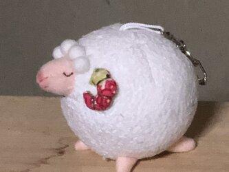 羊キーホルダーの画像