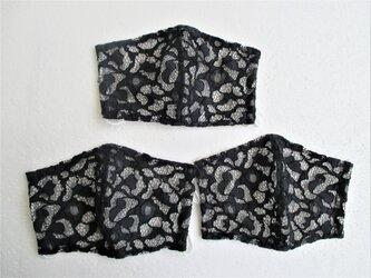 「夏用」銀イオン不織布レースマスク3枚組の画像