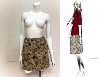【1点もの・デザイン画付き】ゴブラン織り膝上スカート(KOJI TOYODA)の画像