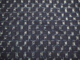 kh0035a 細かい絣文様木綿ハギレ120cm☆古布・古裂 /筒描き/型染め/藍染/の画像