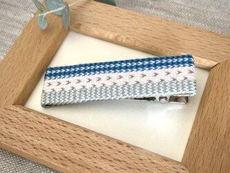 カード織りヘアクリップ ::C.D.B.blue::の画像