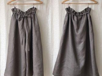 【Mサイズリネン2wayパンツスカート】Oliveの画像