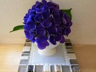 石とガラスのディスプレイ台 4026   眼鏡 鍵 時計 トレー 花台 花瓶台の画像