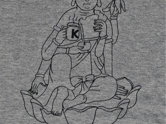如意輪観音の朝ごはんTシャツの画像
