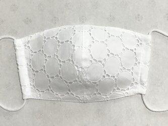 綿ローンサークルレース マスクの画像