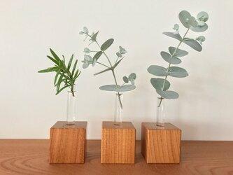 キューブ型 いちりんざし 欅 (けやき) 3個セットの画像