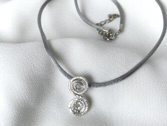 Silver950 ぐるぐるネックレスの画像