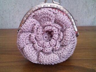 お花のがま口ポーチ lavenderの画像