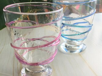 月の水グラス ペアグラス プレゼント ギフトにの画像