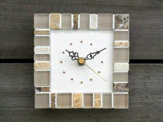 石・ガラスタイルの時計 1009 掛け時計 置時計の画像