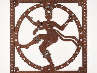 ビッグウッドフレーム「シヴァ神」(木の壁飾り)の画像