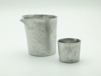 錫製 片口とぐい呑 セットの画像