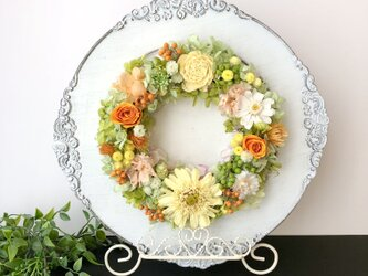Preserved flower arrange+easelの画像