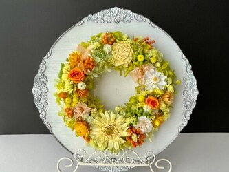 Preserved flower arrange+easelの画像