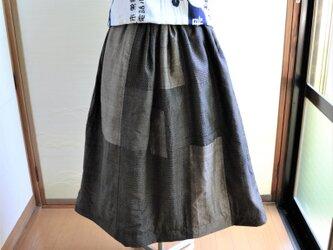 手拭い✕大島リバーシブルギャザースカート J-37の画像