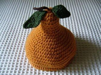 フルーツ帽(橙色梨)の画像