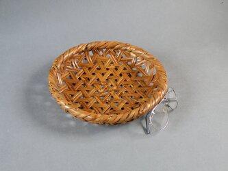 燻煙千島笹 根曲がり竹 煤竹 鉄線盛り籠 果物籠の画像