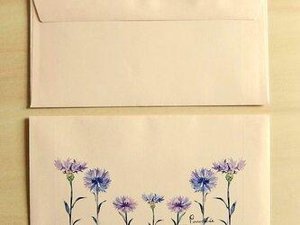 洋長3封筒 矢車菊の画像