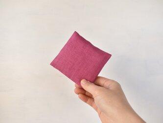 草木染め:大人のリネンのサニタリーケース《ピンク》の画像