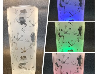 カエルの角ロンググラスの画像