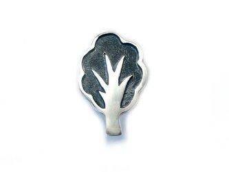 木のシルバーピンブローチⅡの画像