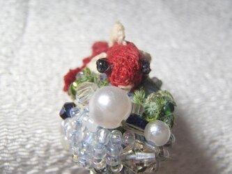 3D手刺繍/手鞠金魚/簪の画像
